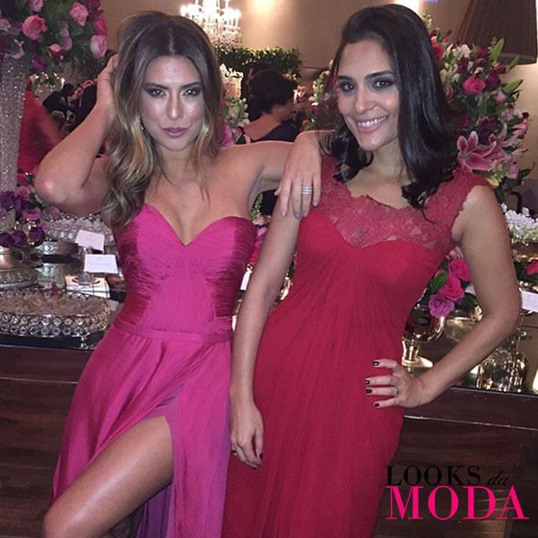 Looks da Moda Atriz Fernanda Paes Leme e estilista Luciana Collet