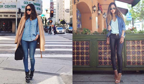 Dicas de moda feminina : seis ideias para versatilizar a camisa jeans