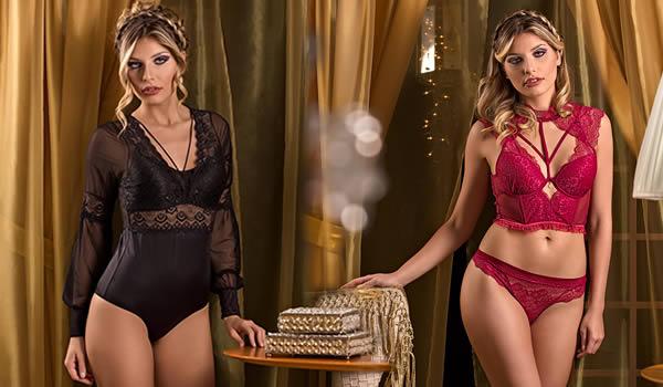 Moda Íntima Feminina : coleção inverno 2017 Del Laras lingerie