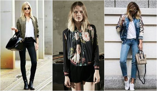 Looks da Moda Inverno : jaquetas bomber