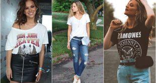 moda feminina moda verao t-shirt e belt bag