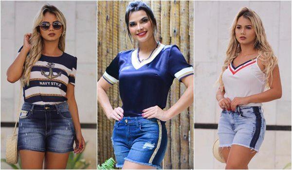 Verao Roupas da Moda Feminina Short Jeans Bermuda Jeans