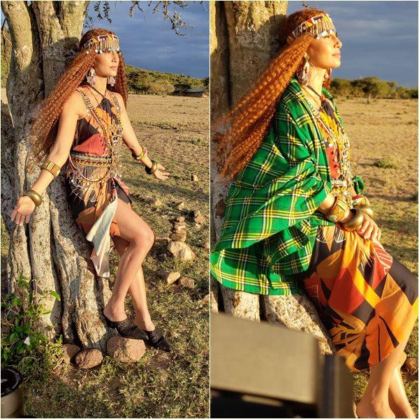 Atriz Global Camila Pitranga no Quenia